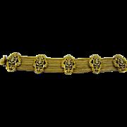Art Deco Era Francois Chainmaille Medallion Bracelet