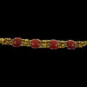 Lipstick Red Bakelite Art Deco Bracelet