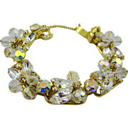 Sparkling Juliana Crystal Bead and Marquise Rhinestone Bracelet