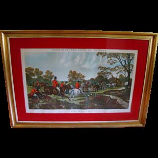 "John Frederick Herring, Sr. Print ""The Death"" 1867 Fox Hunt"