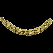 Unsigned Coro Gold Tone Bracelet