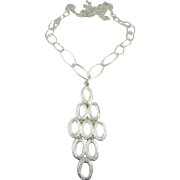 Rhodium Plated Necklace and Pendant