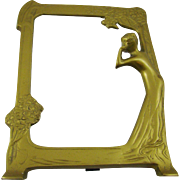 Art Deco Golden Framed Mirror