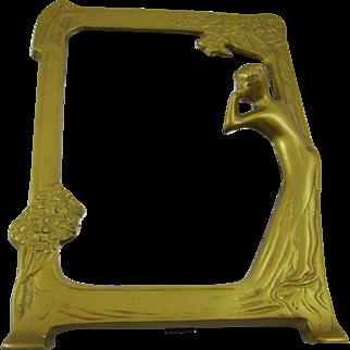 Art Deco Golden Framed Mirror