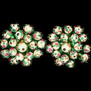 Vintage Glass Lampwork Bead Earrings