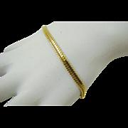 Monet Herringbone Gold Tone Bracelet