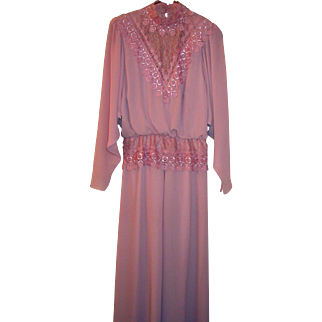 Vintage Formal Gown in Rose ~ Size 10