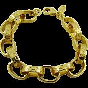 Oscar de la Renta Paper Chain Gold Tone Bracelet
