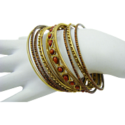 Gypsy Style Bangle Bracelet Set