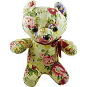 "Floral Sitting Bear 10"" Tall"