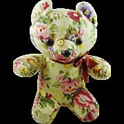 "Floral Sitting Bear 10"" Tall"