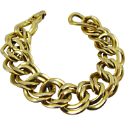Monet Double Link Gold Tone Bracelet