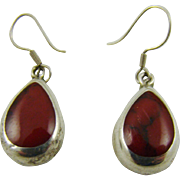 Red Jasper and Mexico Sterlling Earrings