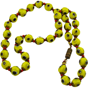 Venetian Millefiori Glass Bead Necklace