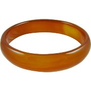 Carnelian Agate Carved Bangle Bracelet