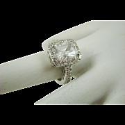 Faux Diamond Engagement Ring