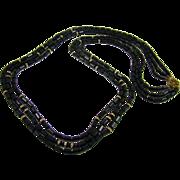 Miriam Haskell Stunning Black Glass Bead Necklace