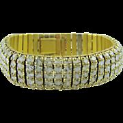 Rare Esha Randel Art Deco Opalescent Givre Glass Bracelet