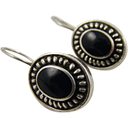 Black Onyx Sterling Silver Earrings