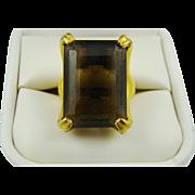 Large Topaz Vendome Adjustable Ring