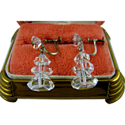 Art Deco Crystal and Silver Earrings