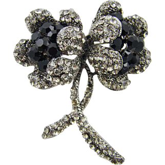 Stunning Art Deco Style Floral Evening Brooch