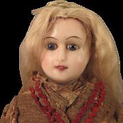 15 inch Antique German Reinforced Wax Fashion Lady Doll