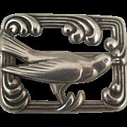 1940s Sterling Silver Norseland Bird Brooch
