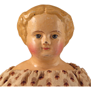 German M S Superior Papier Mache Doll All Original 16 inch