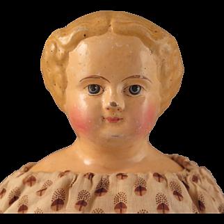 German M S Superior Papier Mache Doll All Original 16 inch