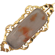 Victorian Agate Pinchbeck Brooch