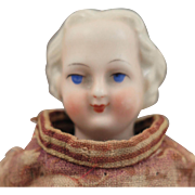1870s Blond German Flat top China Doll 8 inches