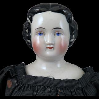 1860s Kestner Flat Top China Doll All Original 15 inches