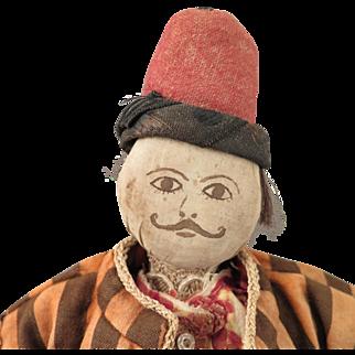 Antique Turkoman Turkmens Cloth Man Doll 18 inches
