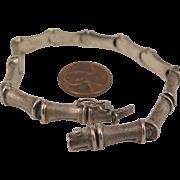 Vintage Italian Sterling Silver Bamboo Bracelet