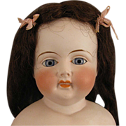 "26"" Antique German Bisque Doll w/ Open Closed Mouth & Teeth"