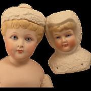 2 Vintage Snow Baby Bisque Artist Dolls, Frances Reedy, Patti-Jene