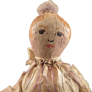 6.5 inch Antique Painted Cloth Doll