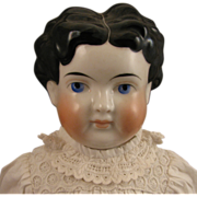 24 inch Antique German ABG Child China Head Doll