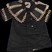 """Antique Black Satin Coat for 22-24"""" Doll"""