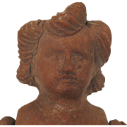 Early 1900s Mexican Pottery Folk Art Doll Mold 14 inch