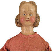 Antique Wax Mystery Doll, 19 inch