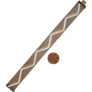 Art Deco 835 Silver Flat Chain Mail Bracelet
