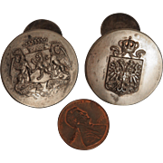 Austrian Royal Coat of Arms Cuff Link Buttons