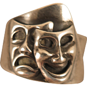 Beau Sterling Comedy Tragedy Theatrical Ring
