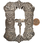 1860 Dutch hallmarked Sterling Silver Buckle with Scenes