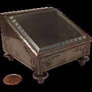 1860s Meriden Britannia Silver Plate Watch or Jewelry Box