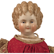 1870s Alt Beck Gottschalck Curly Top China Doll 17 inch - Red Tag Sale Item