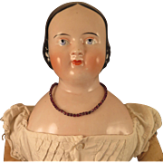 1850s Kestner Pink Tint Covered Wagon China Doll 24 inch