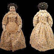 1870s Alt Beck Gottschalck Dolley Madison China Doll 14 inch